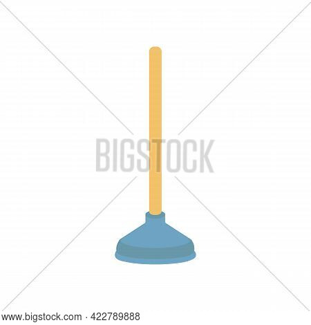 Simple Plunger Icon. Can Be Used As A Symbol Or Sign. Cleaning Service Concept. Stock Vector Illustr