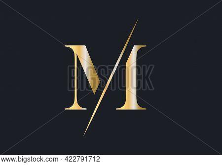 Initial Monogram Letter M Logo Design Vector. Luxury Letter M Logo Design