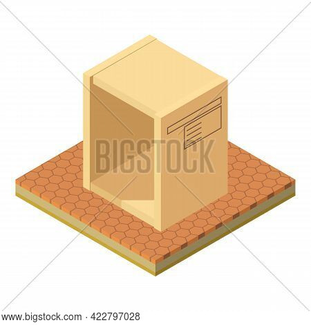 Postal Parcel Icon. Isometric Illustration Of Postal Parcel Vector Icon For Web