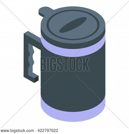 Travel Thermo Cup Icon. Isometric Of Travel Thermo Cup Vector Icon For Web Design Isolated On White