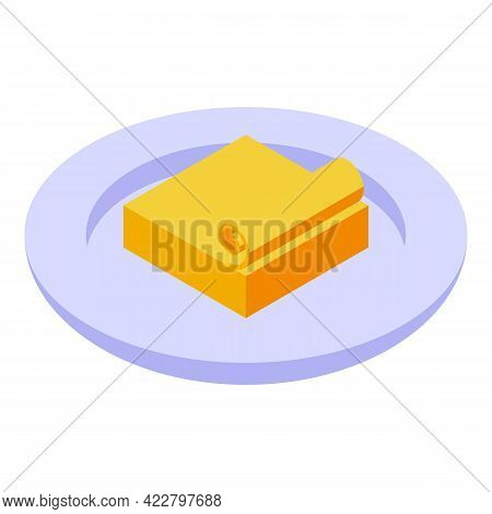 Vitamin D Butter Icon. Isometric Of Vitamin D Butter Vector Icon For Web Design Isolated On White Ba