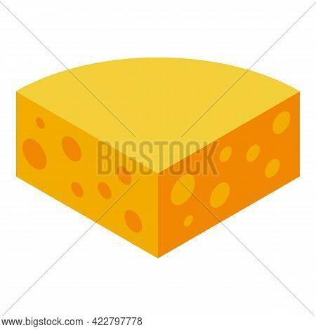 Vitamin D Cheese Icon. Isometric Of Vitamin D Cheese Vector Icon For Web Design Isolated On White Ba