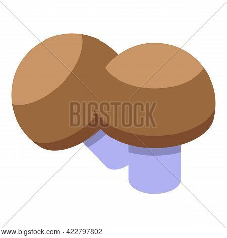 Vitamin D Mushrooms Icon. Isometric Of Vitamin D Mushrooms Vector Icon For Web Design Isolated On Wh