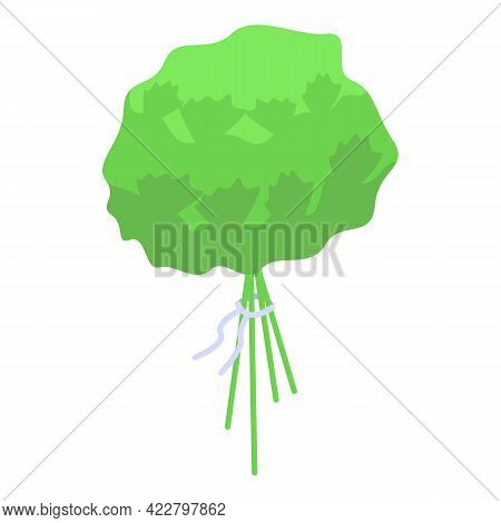 Vitamin D Green Icon. Isometric Of Vitamin D Green Vector Icon For Web Design Isolated On White Back