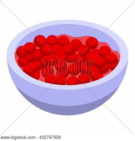 Vitamin D Red Berry Icon. Isometric Of Vitamin D Red Berry Vector Icon For Web Design Isolated On Wh