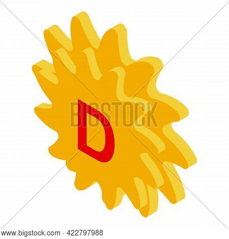 Vitamin D Sunlight Icon. Isometric Of Vitamin D Sunlight Vector Icon For Web Design Isolated On Whit