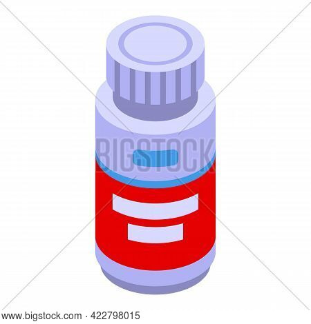Vitamin D Pills Jar Icon. Isometric Of Vitamin D Pills Jar Vector Icon For Web Design Isolated On Wh