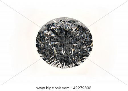 3D rendered diamond