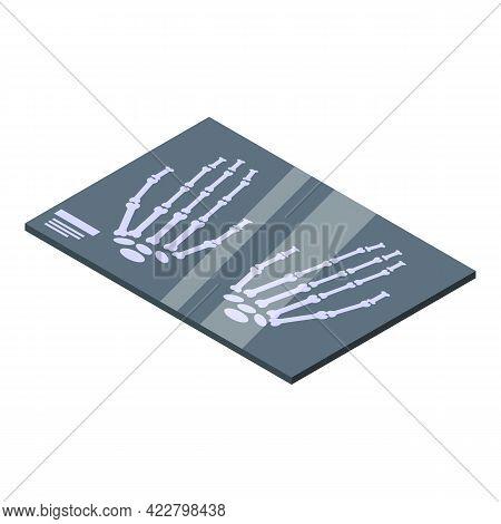 Arthritis X Ray Image Icon. Isometric Of Arthritis X Ray Image Vector Icon For Web Design Isolated O