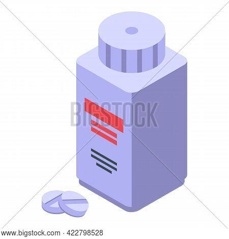 Arthritis Pills Jar Icon. Isometric Of Arthritis Pills Jar Vector Icon For Web Design Isolated On Wh