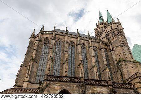 Low Angle View Of The Cathedral In Erfurt, Thuringia