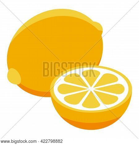 Cough Lemon Icon. Isometric Of Cough Lemon Vector Icon For Web Design Isolated On White Background