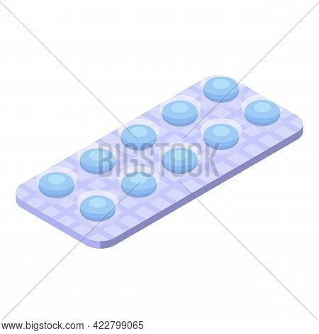 Cough Drops Pills Icon. Isometric Of Cough Drops Pills Vector Icon For Web Design Isolated On White