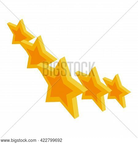 Ranking Five Start Icon. Isometric Of Ranking Five Start Vector Icon For Web Design Isolated On Whit