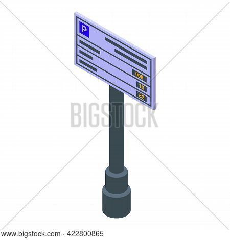 Paid Parking Icon. Isometric Of Paid Parking Vector Icon For Web Design Isolated On White Background
