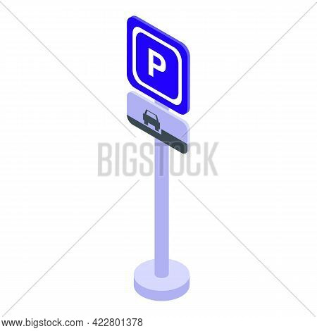 Paid Parking Mode Icon. Isometric Of Paid Parking Mode Vector Icon For Web Design Isolated On White