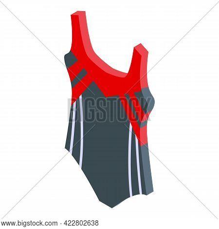 Synchronized Swimming Wear Icon. Isometric Of Synchronized Swimming Wear Vector Icon For Web Design