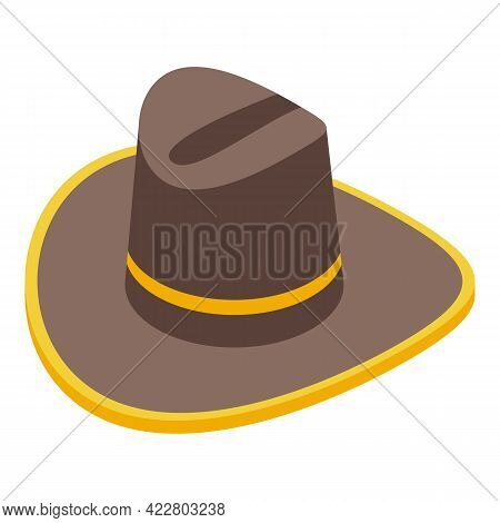 Cowboy Hat Icon. Isometric Of Cowboy Hat Vector Icon For Web Design Isolated On White Background