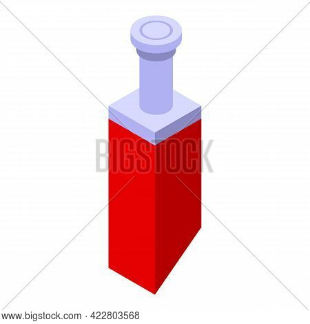 House Chimney Icon. Isometric Of House Chimney Vector Icon For Web Design Isolated On White Backgrou