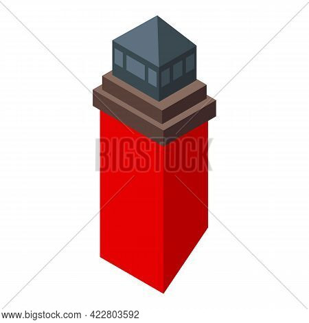 Home Chimney Icon. Isometric Of Home Chimney Vector Icon For Web Design Isolated On White Background