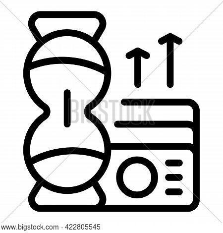 Bank Reserves Grow Icon. Outline Bank Reserves Grow Vector Icon For Web Design Isolated On White Bac