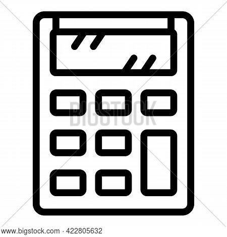 Money Calculator Icon. Outline Money Calculator Vector Icon For Web Design Isolated On White Backgro