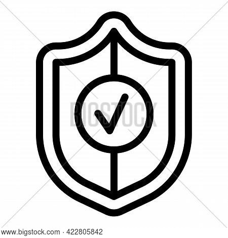 Deposit Room Secured Icon. Outline Deposit Room Secured Vector Icon For Web Design Isolated On White
