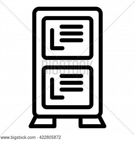 Deposit Room Locker Icon. Outline Deposit Room Locker Vector Icon For Web Design Isolated On White B