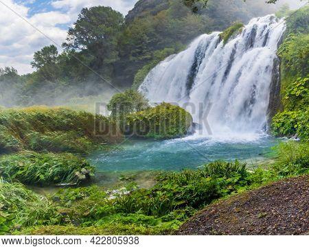Marmore falls, Cascata delle Marmore, in Umbria region, Italy