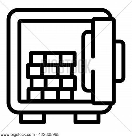 Deposit Room Money Cash Icon. Outline Deposit Room Money Cash Vector Icon For Web Design Isolated On