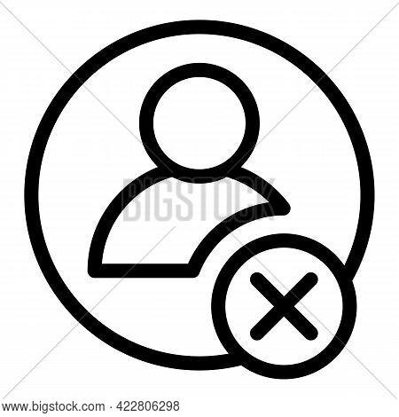 Blacklist Avatar Icon. Outline Blacklist Avatar Vector Icon For Web Design Isolated On White Backgro