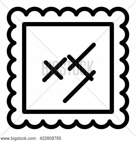 Haberdashery Textile Material Icon. Outline Haberdashery Textile Material Vector Icon For Web Design