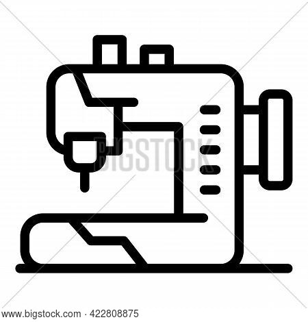 Sewing Machine Icon. Outline Sewing Machine Vector Icon For Web Design Isolated On White Background