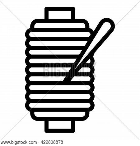 Sewing Machine Thread Icon. Outline Sewing Machine Thread Vector Icon For Web Design Isolated On Whi