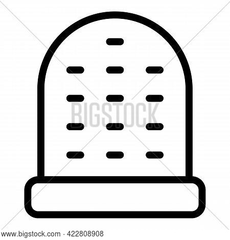 Finger Sewing Protection Icon. Outline Finger Sewing Protection Vector Icon For Web Design Isolated