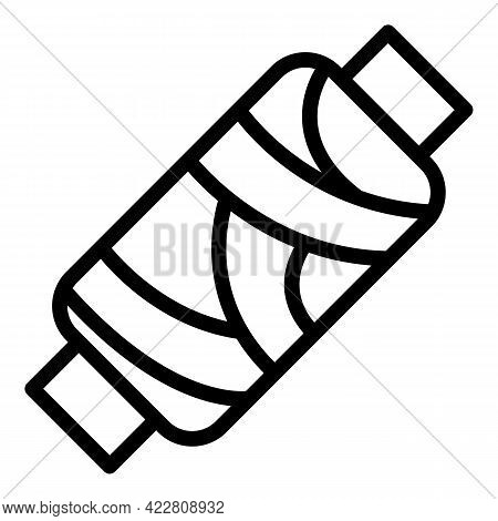 Craft Thread Icon. Outline Craft Thread Vector Icon For Web Design Isolated On White Background