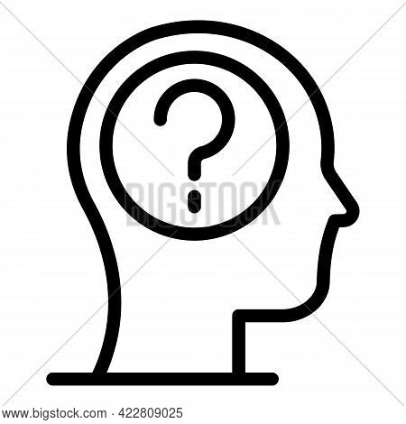 Brainstorming Question Icon. Outline Brainstorming Question Vector Icon For Web Design Isolated On W