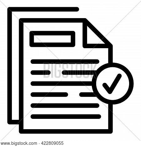 Brainstorming Files Icon. Outline Brainstorming Files Vector Icon For Web Design Isolated On White B
