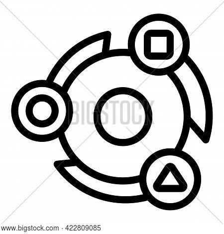 Brainstorming Advice Icon. Outline Brainstorming Advice Vector Icon For Web Design Isolated On White