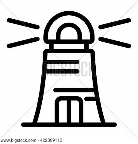 Brainstorming Lighthouse Icon. Outline Brainstorming Lighthouse Vector Icon For Web Design Isolated