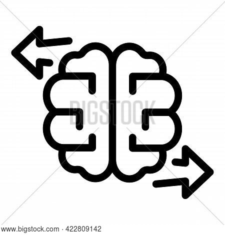 Brainstorming Discussion Icon. Outline Brainstorming Discussion Vector Icon For Web Design Isolated