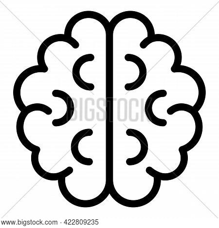 Brainstorming Success Icon. Outline Brainstorming Success Vector Icon For Web Design Isolated On Whi