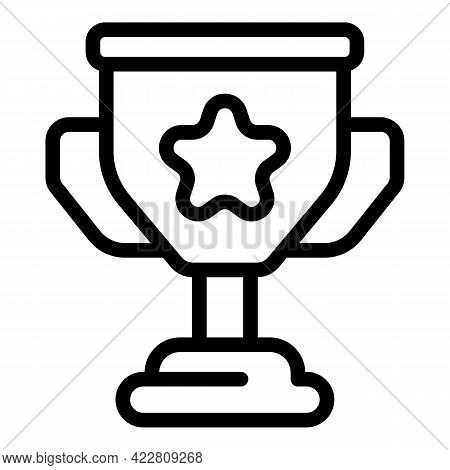Brainstorming Cup Icon. Outline Brainstorming Cup Vector Icon For Web Design Isolated On White Backg