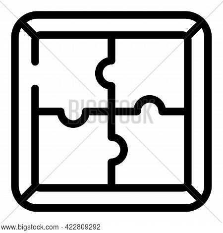 Brainstorming Puzzle Icon. Outline Brainstorming Puzzle Vector Icon For Web Design Isolated On White