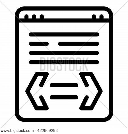 Brainstorming Online Icon. Outline Brainstorming Online Vector Icon For Web Design Isolated On White