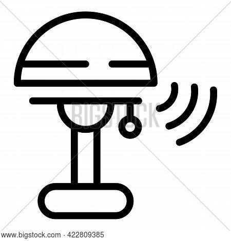 Desktop Lamp Smart Lightbulb Icon. Outline Desktop Lamp Smart Lightbulb Vector Icon For Web Design I