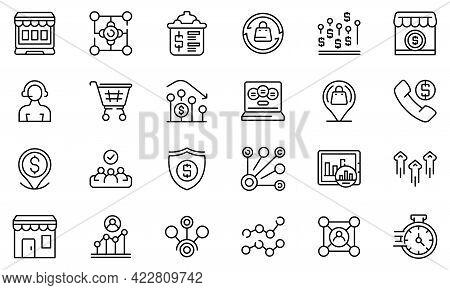Narrow Market Icon. Outline Narrow Market Vector Icon For Web Design Isolated On White Background