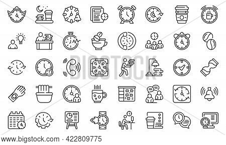 Late Work Icon. Outline Late Work Vector Icon For Web Design Isolated On White Background