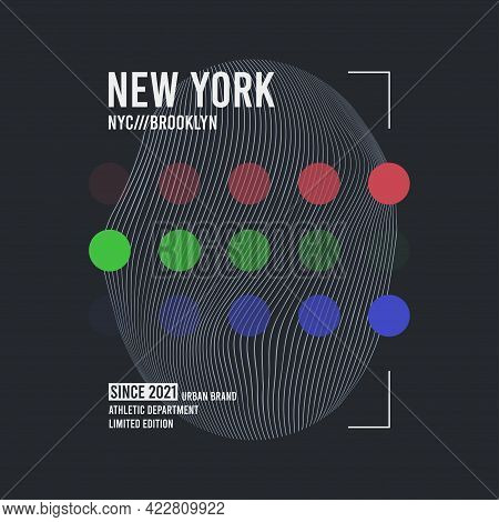 New York, Brooklyn Modern Abstract Design For T-shirt. Typography Graphics For Tee Shirt. Abstract A