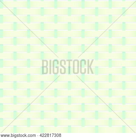 Illustration Pattern Of Weaved Lines As A Texture For A Fabric Bag Clothe Or Basket Seamless Geometr